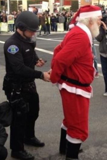 Santa Being Arrested