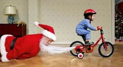 Santa Got Run Over By A Trike