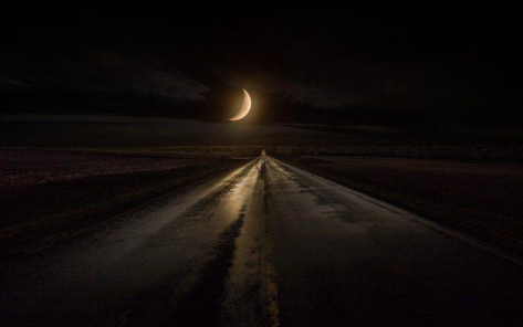 Highway with Moon II