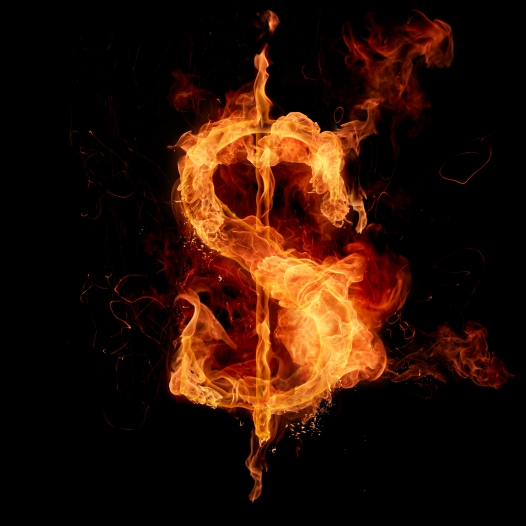 Money Sign Burning FREE