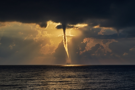 Tornado over sea.