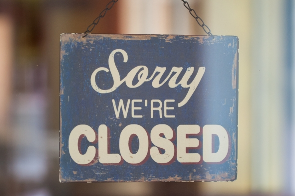 Business with Closed Sign
